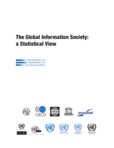 The Global Information Society: a Statistical View PARTNERSHIP ON MEASURING ICT