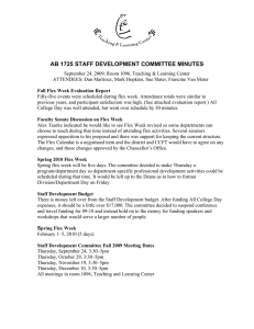 AB 1725 STAFF DEVELOPMENT COMMITTEE MINUTES