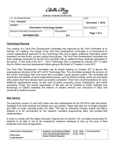 November 1, 2010 Information Technology Update Page 1 of 2