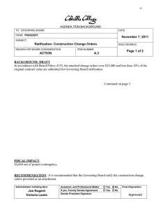 November 7, 2011 Ratification: Construction Change Orders Page 1 of 2