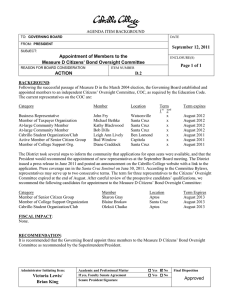 September 12, 2011 Appointment of Members to the
