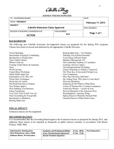 February 11, 2013 Cabrillo Extension Class Approval Page 1 of 1