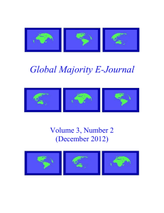 Global Majority E-Journal  Volume 3, Number 2 (December 2012)
