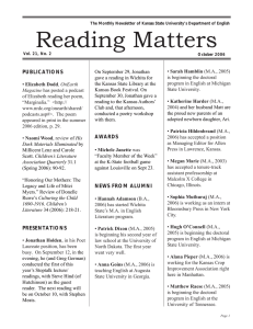 Reading Matters PUBLICATIONS