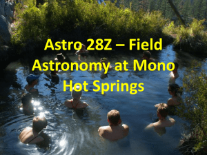 Astro 28Z – Field Astronomy at Mono Hot Springs