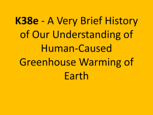 K38e of Our Understanding of Human-Caused Greenhouse Warming of