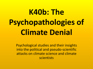 K40b: The Psychopathologies of Climate Denial