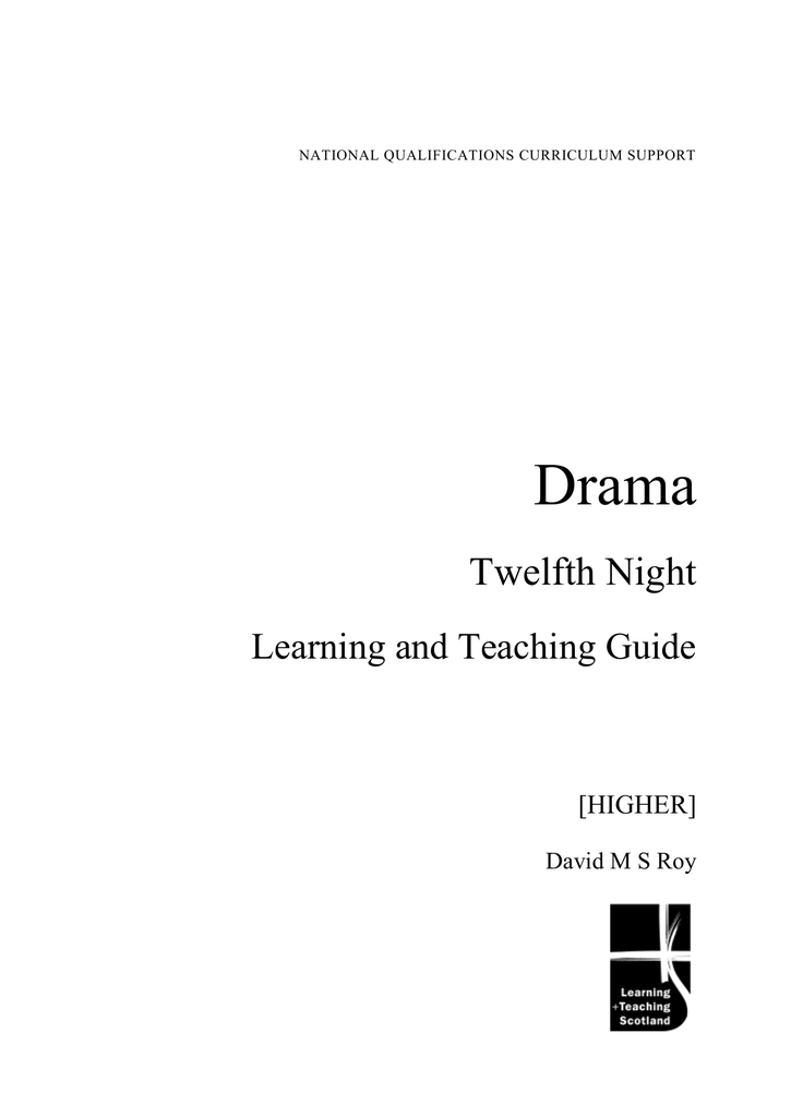 Drama Twelfth Night Learning And Teaching Guide