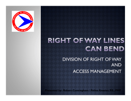 DIVISION OF RIGHT OF WAY AND ACCESS MANAGEMENT