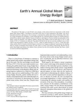 Earth's Annual Global Mean Energy Budget ABSTRACT