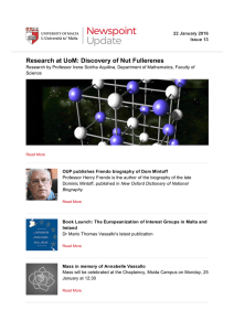 Research at UoM: Discovery of Nut Fullerenes