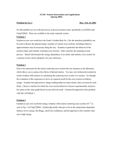 22.106  Neutron Interactions and Applications (Spring 2005) Problem Set No. 2