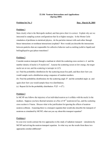 22.106  Neutron Interactions and Applications (Spring 2005) Problem Set No. 3