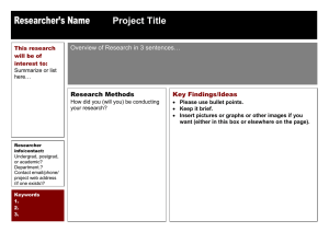 Researcher's Name Project Title …