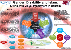 Gender, Disability and Islam: Living with Visual Impairment in Bahrain Research Questions Abstract