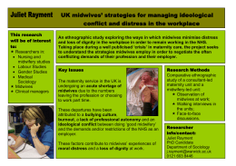 Juliet Rayment UK midwives' strategies for managing ideological conflict and