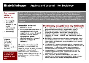 Elisabeth Simbuerger Against and beyond – for Sociology
