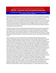 NCATE: I. Overview and Conceptual Framework