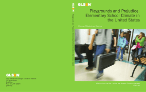 Playgrounds and Prejudice: Elementary School Climate in the United States