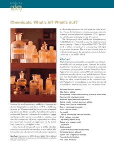 safety Chemicals: What's in? What's out?