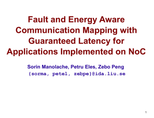 Fault and Energy Aware Communication Mapping with Guaranteed Latency for