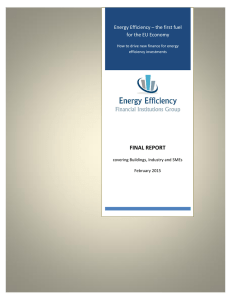 FINAL REPORT Energy Efficiency – the first fuel for the EU Economy
