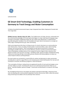 GE Smart Grid Technology, Enabling Customers in