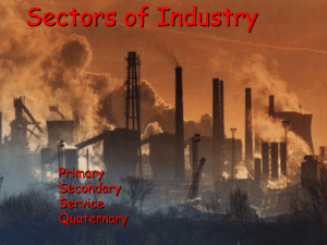 Sectors of Industry Primary Secondary Service