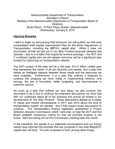 Massachusetts Department of Transportation Secretary's Report