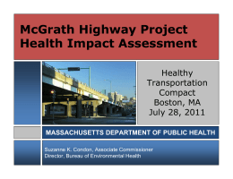 McGrath Highway Project Health Impact Assessment Healthy Transportation
