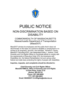 PUBLIC NOTICE NON-DISCRIMINATION BASED ON DISABILITY