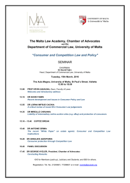 The Malta Law Academy, Chamber of Advocates