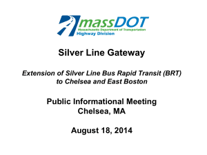 Silver Line Gateway Public Informational Meeting Chelsea, MA