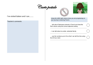 Carte postale I've visited Gabon and I can……… Teacher's comments