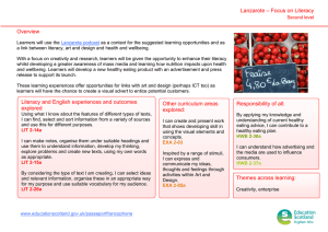 – Focus on Literacy Lanzarote Overview