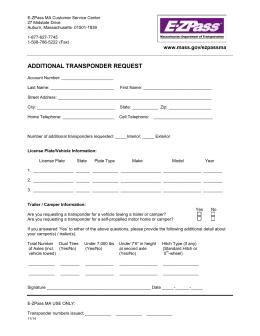 Application For Annual E Zpass Ma Carpool Program
