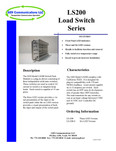 LS200 Load Switch Series