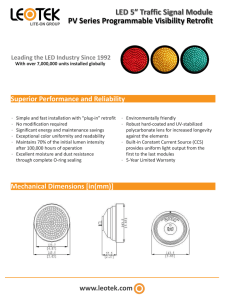 "LED 5"" Traffic Signal Module PV Series Programmable Visibility Retrofit"