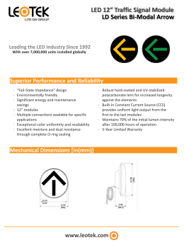 "LED 12"" Traffic Signal Module LD Series Bi-Modal Arrow"