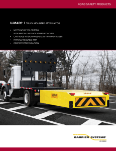 U-MAD | ROAD SAFETY PRODUCTS TRUCK MOUNTED ATTENUATOR
