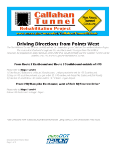 Driving Directions from Points West