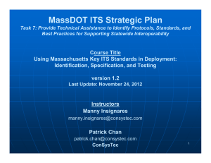 MassDOT ITS Strategic Plan