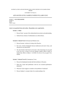 ADVANCED LEVEL SAMPLE PAPER SYLLABUS 2012