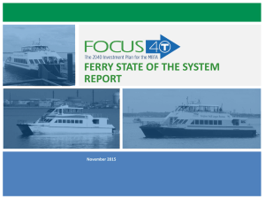 FERRY STATE OF THE SYSTEM REPORT 1 November 2015
