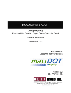ROAD SAFETY AUDIT  College Highway Feeding Hills Road to Depot Street/Granville Road