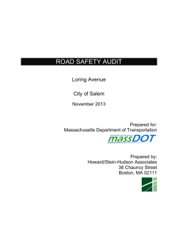 ROAD SAFETY AUDIT  Loring Avenue City of Salem