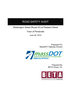 ROAD SAFETY AUDIT  Washington Street (Route 53) at Pleasant Street