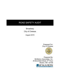 ROAD SAFETY AUDIT  Broadway City of Chelsea