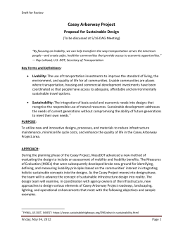 Casey Arborway Project Proposal for Sustainable Design