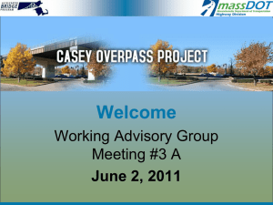 Welcome Working Advisory Group Meeting #3 A June 2, 2011